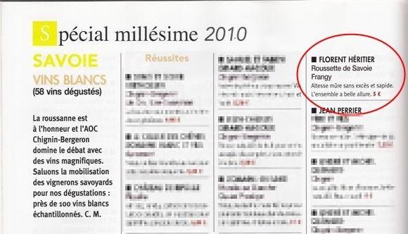 Revue des vins de France – Spécial millésime 2010