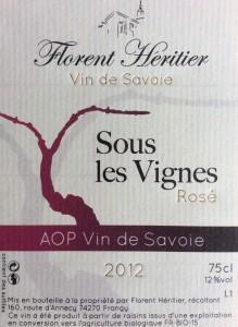 sous les vignes 2012